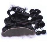 Commerce de gros vierge brésilienne de couleur naturelle des cheveux humains Bundle pour les femmes noires