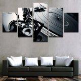 ホーム装飾のキャンバス現代HDフレームの絵画壁の芸術5のパネルの楽器居間によって印刷されるポスター映像
