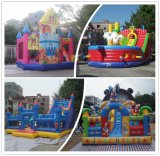 Castillo animoso inflable de la pequeña yarda al por mayor de China combinado con la diapositiva