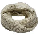 レディースメンズ男女兼用の首のウォーマーの厚いカシミヤ織の感じの冬によって編まれるループスカーフのSnood (SK131)