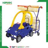 Supermercado crianças carrinho de compras com o carro de brincar