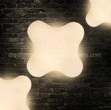 La iluminación colgante del LED adorna la luz del colgante del trébol de la hoja del acrílico cuatro del restaurante