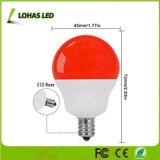 Bulbo equivalente rojo claro de las bombillas 5W 40W E12 LED de la nueva decoración de la llegada G14