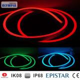 Ultrafino Ustom Neón 24V de la luz de tira flexible de LED RGB