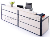 Деревянная мебель Office счетчик таблица дизайн маленькая стойка регистрации (SZ-RTT001)