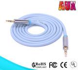 Cabo auxiliar do estéreo do cabo 3.5mm do cabo audio barato para o carro