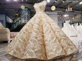 Новое поступление золотых Sequin Aolanes свадебные платья
