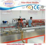 Janela de PVC e máquinas de extrusão de perfis de plástico da porta