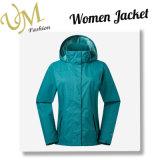 As mulheres Waterproof o revestimento ao ar livre do inverno da prova do vento com capa