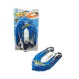 Brinquedos da água do mini barco inflável (acta) na corrente com bomba