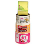 Etiqueta impermeável removível da etiqueta adesiva para frascos do plástico do alimento