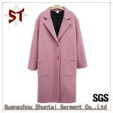 Пальто повелительницы Толщин Пальто Шерстян Одежды наружное с кнопками