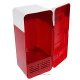 Холодильник USB вычуры миниый, миниый Icebox, миниый портативный холодильник автомобиля, питье напитка консервирует более холодный/более теплый холодильник для Laptop/PC