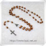 Il cristallo d'imitazione di plastica borda il rosario religioso (IO-cr236)