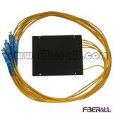 Tipo divisor óptico del ABS del PLC de fibra con el conector del Sc