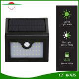 Nouvelle arrivée 28mur solaire sans fil lampe LED jardin extérieur de la lumière avec capteur PIR et le mode DIM
