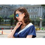 Lunettes de soleil en plastique promotionnelles chaudes inférieures de la CE UV400 d'aperçus gratuits de cru de vente en verre de Sun de mode MOQ