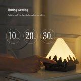 Lâmpadas de mesa espertas do estilo do toque da cor da forma três para o quarto