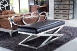 Кровать Венер нержавеющей стали, кровать ткани двойная с изогнутой изогнутой рамой Rb-02