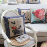Almofadas de luxo de linho de algodão para cama