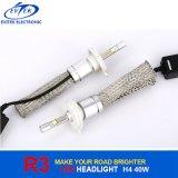 CREE branco do farol 40W do diodo emissor de luz do carro do xénon 4800lm H4 H/L R3 do farol H4 6000k do diodo emissor de luz do CREE da lâmpada do carro do diodo emissor de luz