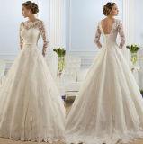 Платье шикарных втулок пояса шнурка длинних полных Bridal
