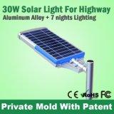 Dispositif solaire neuf de réverbères de l'homologation DEL de RoHS de la CE de vente