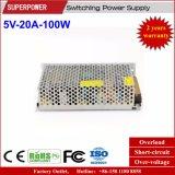 LED表示スクリーンのための5V 20A 100Wの切換えの電源