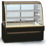 Disgelare il refrigeratore di vetro posteriore commerciale della visualizzazione della torta dei portelli del sistema