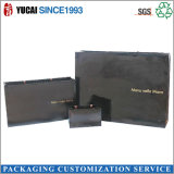 Vente chaude de empaquetage noire de papier du sac 2017 de sac à provisions de Facy