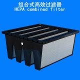 La grande forme du volume de l'air HEPA W a composé V-Bourrent Mini-Plissent le filtre de HEPA