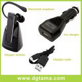 De Hoofdtelefoon van Bluetooth met de Kabel van de Lader van de Lader van de Auto en de Post van de Lader