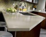 Superfície contínua acrílica de mármore artificial do branco 12mm do material de construção (GMA13)