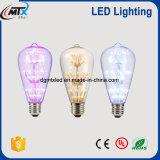 As séries decorativas estrelados do bulbo do diodo emissor de luz com UL, CE, RoHS E26/27 2W 25-40W igual aquecem a luz