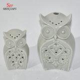 Candela di ceramica Holders/B di figura dei gufi