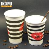 12 oz desechables de café caliente taza de papel