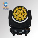 La luz principal móvil más barata de la colada del zoom 4in1 RGBW LED de Rpas 19*10W del precio para la luz de la etapa con 16/22CH para el acontecimiento del partido del disco