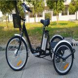 трицикл более старых людей большого колеса 24inch электрический