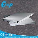 Techo de aluminio acústico curvado del listón para el techo de la tira de U