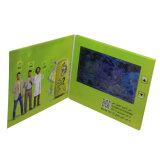 Brochure visuelle de carte de voeux de 4.3 pouces avec le bouton