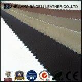 Litchi Cross Design tecido em tecido de couro de PVC para sofá / estofamento de móveis