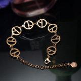 Elegante Frauen-Schmucksache-Form-Edelstahl prägt Charme-Armband