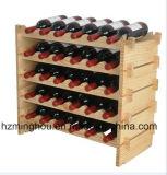 Cremagliera di legno del vino di 2 strati per la mensola domestica del vino della mobilia