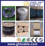 1.0mmccs, 4.8mmfpe, 128*0.12mmalmg, Od: cavo coassiale nero RG6 del PVC di 6.8mm