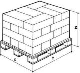 Roboterpalettierung-u. Ladeplatten-Pack-Band