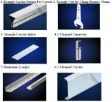 パネルGB/T15389-94クリップのアルミニウム天井の金属の天井のアクセサリの天井のタイルの天井板の天井のためのキャリアのハンガーの鋼鉄プロフィール