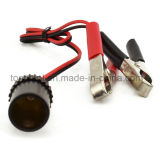 Clip-on Cigarette Lighter Socket Adapter 12V