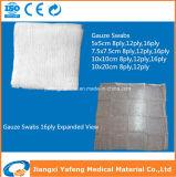 faltende Gaze der rohe Baumwolle16ply für Krankenhaus-Gebrauch