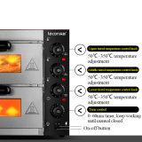 Four électrique commercial de pizza d'acier inoxydable
