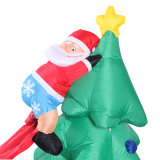 Im Freienfeiertags-Dekoration-aufblasbarer Baum mit Hundebildschirmanzeige für Familien-Partei